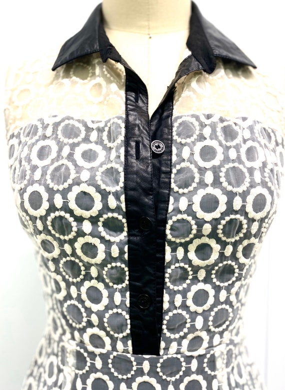 Embroidered Flower Dress - image 1