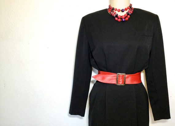 1980's Wool Dress, 1980's Tailored Wool Dress