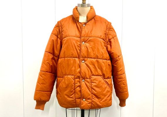 1970's Puffy Jacket with Zipper Sleeves