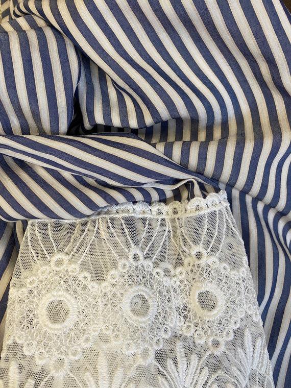 Striped Lace Blouse - image 8