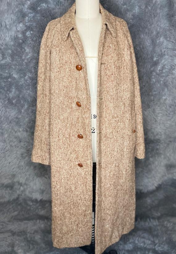 Burberry Tweed Coat, Burberry Irish Hand Woven Tw… - image 5