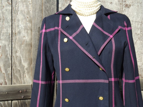 1980's Wool Dress, 1980's Double Breasted Wool Dre