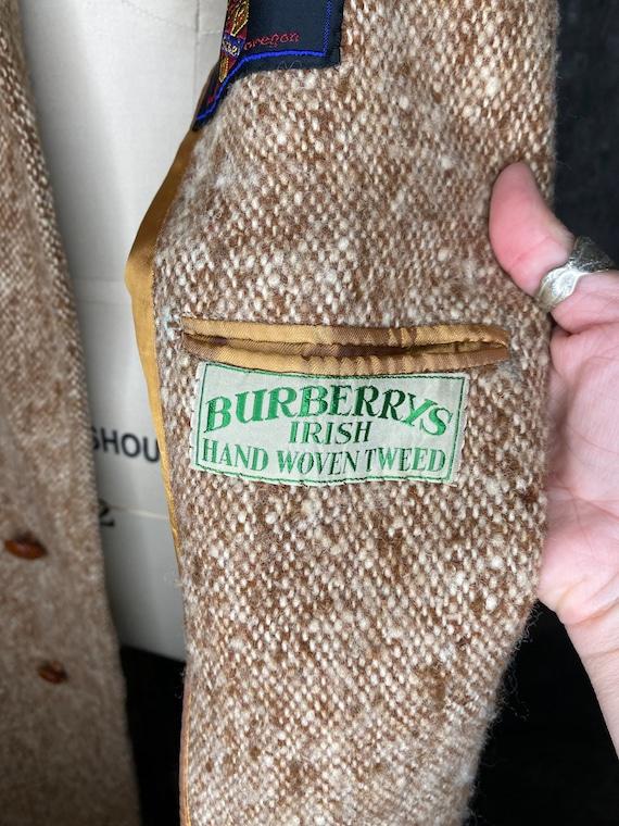 Burberry Tweed Coat, Burberry Irish Hand Woven Tw… - image 7