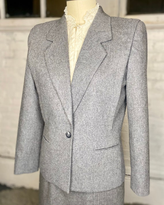 Sasson Wool Blazer and Skirt Set