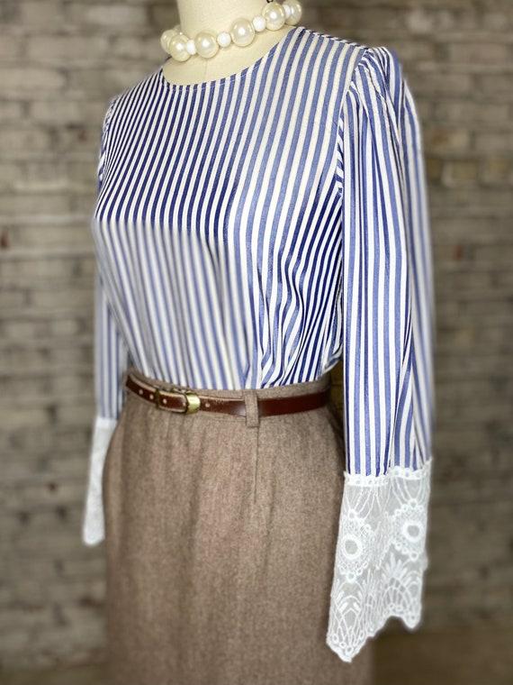 Striped Lace Blouse - image 4