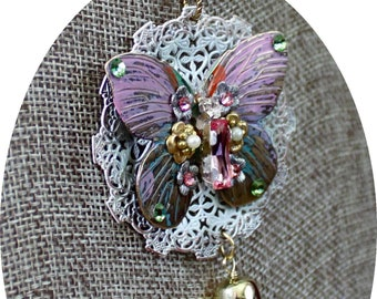 Butterfly Necklace with Earrings