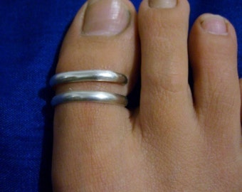 Big Toe ring Solid silver