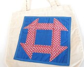 Appliqued Canvas Tote