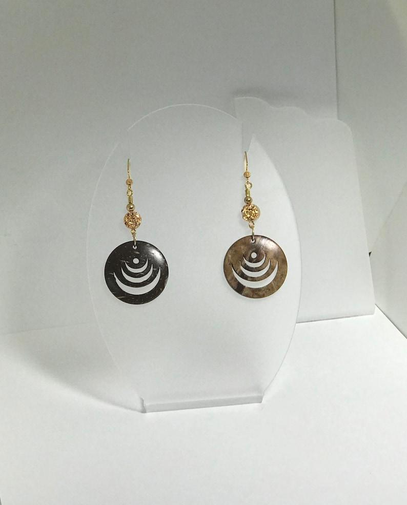 Spiraling Dangle Earrings image 0