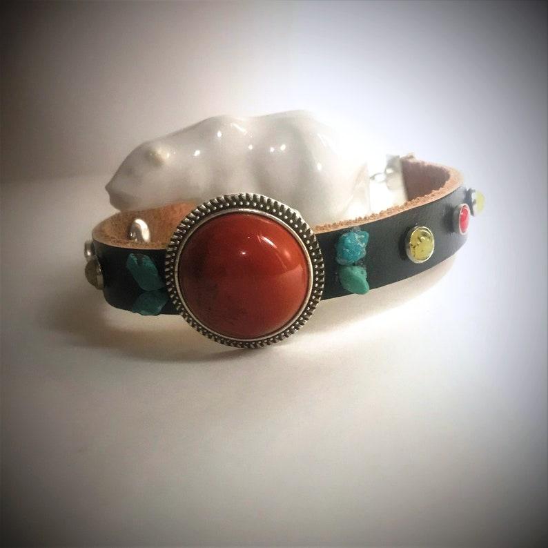 Leather Cuff Bracelet image 0