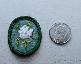 Two Vintage Brownie Girl Scout patches