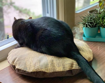 Hygge Cat Mat, Modern Recycled Wool Pet Bed, Small Dog Bed, Machine Washable, Eco Friendly, All Purr Puss Cat Bed, Minnesota Made