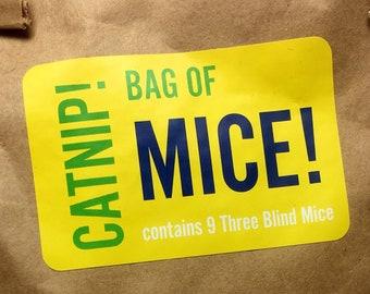 Bag of Mice, Set of 9 Wool Mini Catnip Mice, New Kitten Gift Deal, Organic Catnip, Small Catnip Toys, Cat Fetching Toy, Tiny Catnip Mice