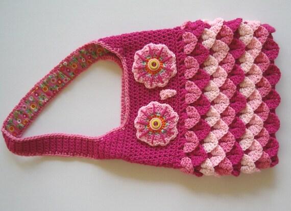 Rosa Eule Handtasche häkeln Tasche Stoff Futter Krokodil Stich | Etsy