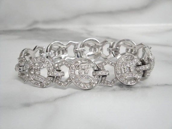 Antique Art Deco Bracelet, Vintage 1920s Fine Art