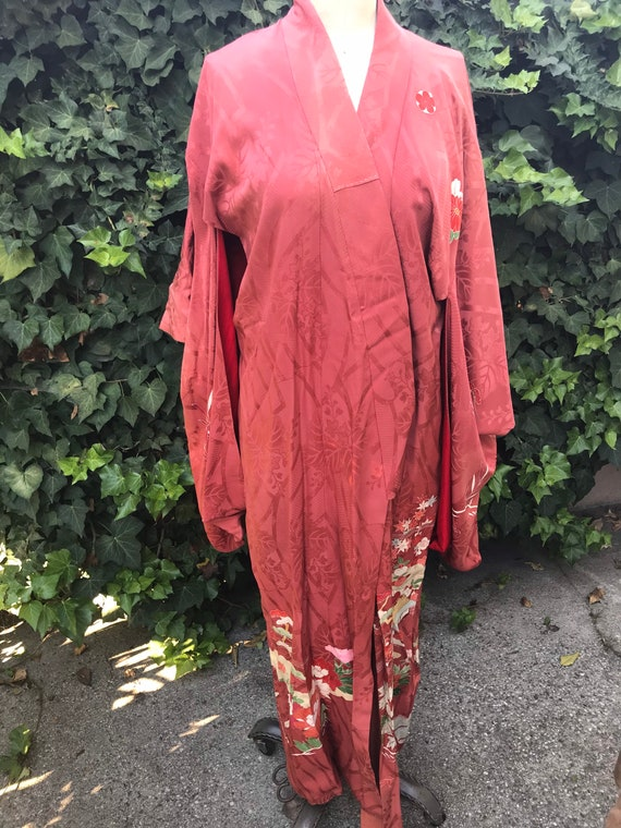 Vintage silk kimono fully lined