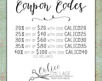Coupon Codes for Calico Collage