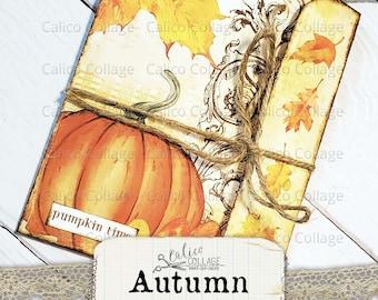 Autumn Ephemera Junk Journal Folio, Ephemera Holder, Ephemera Pack, Fussy Cut, Bullet Journal Supplies, Loaded Pocket, Scrapbook Ephemera