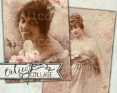 Printable, Ephemera Pack, Victorian Ladies, Digital, Decoupage Paper, Scrapbooking, Junk Journal, Mixed Media, African American, Vintage