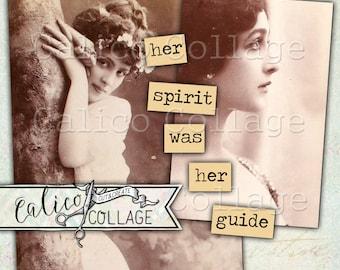Printable, Mixed Media, Vintage Ladies, Journaling Cards, Altered Art, Digital, Collage Sheet, Inspirational, Scrapbooking, Junk Journal