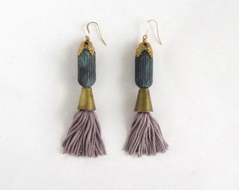 Lavender Tassel Earrings