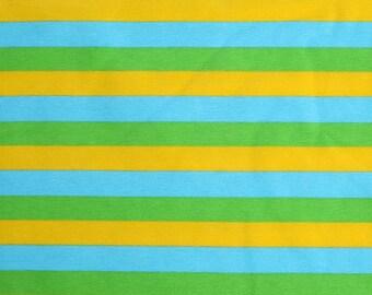 """Knit 3 Color 1/2"""" Stripes - Yellow, Green, Aqua"""