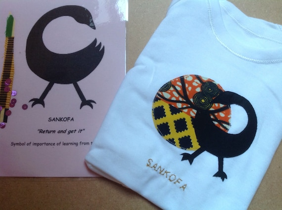 Baby/'s bodysuit with African Adinkra symbol and matching card