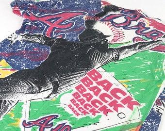 1990's Bold Pop Art Atlanta Braves T Shirt XL// 90's Baby // A Town Down // Finesse