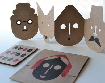 Better to eat you with, Folding masks
