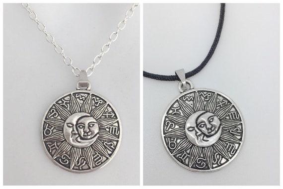 Tibetan Silver Star Sign Pendants for Necklace Zodiac Symbol