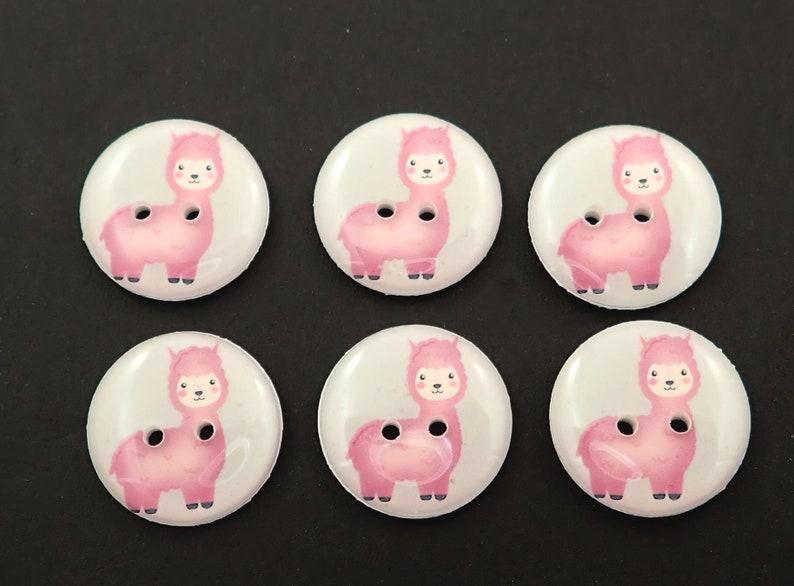 6 Purple Llama Buttons  Grey Background. image 0