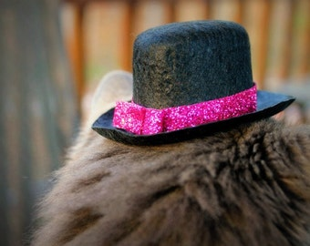 0704dc5f562 Mother s Day - Valentine s Day Hat - Cat or Dog Hat - New Year s Eve Hat -  Glitz and Glam - Cay Top Hat - Roaring 20 s