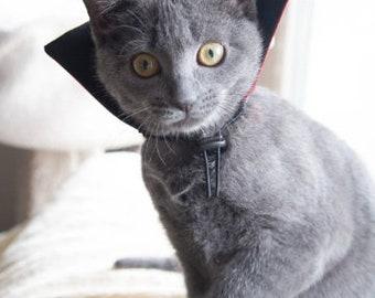 Dracula Collar Cat Costume - Halloween Costume - Pet Costume Dog - Cat Collar -  Cat Collar - Cat Costume -Reversible Collar