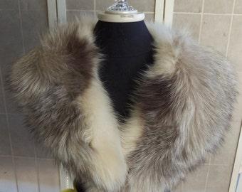 Vintage mid century Fur Collar,costume