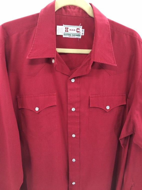 Vintage H Bar C Ranchwear Western Shirt - image 4