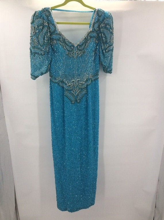 Vintage Lillie Ruben  Sequined Evening Dress
