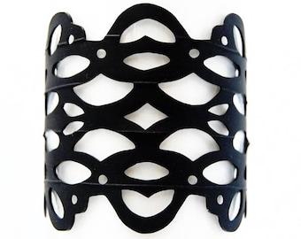 Luna - Recycled Bicycled Inner Tube Bracelet