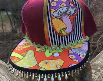 Magic Mushroom Snap Back Hat 87b42a495b34