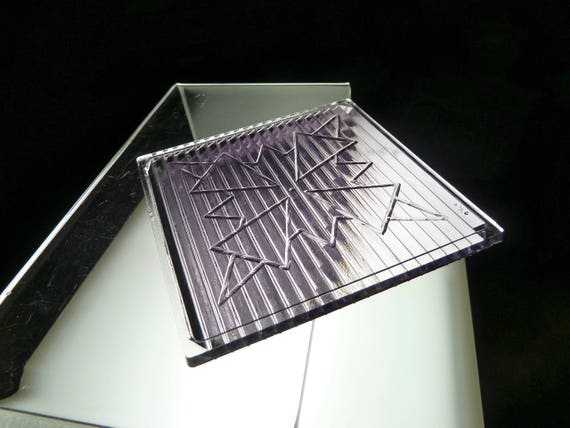 antique GLASS PRISM tile window architectural salvage LUXFER SCA 4x4