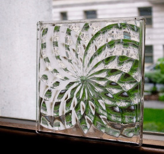 1920's Luxfer Glass Tile 4 X 4 Pinwheel
