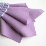 Lilac Wool Felt, 100% Wool, Pure Merino Fiber, Felt Sheet, Light Purple Felt, 1mm Thick Felt