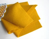 Gold Wool Felt, Pure Merino, Large Felt Square, Wool Felt Sheet, 1mm Thick, Felt Fabric, Nonwoven Wool