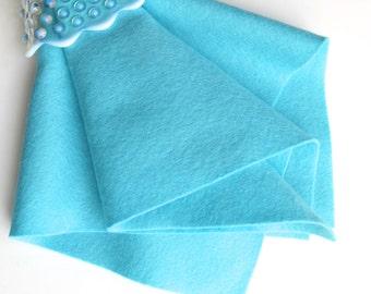 Caribbean Blue, Wool Felt Fabric, 100% Merino, Wool Applique