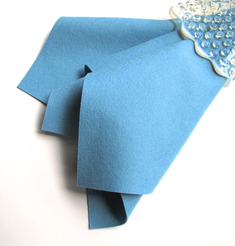 Felt Crafts Large Felt Sheet Misty Blue Wool Felt Blue Felt Applique 100/% Merino