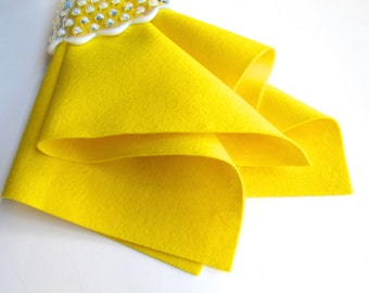 Yellow Wool Felt, 100% Merino, European Felt