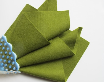 Olive Green Felt, Choose Size, Wool Felt Square, Felt Sheet, 100% Merino, Pure Wool Felt, Washable Felt, Handwork Fabric, Applique, Woodland
