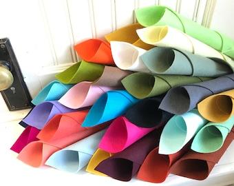Wool Felt Sheets, Twelve Days Ornaments, Original Colorway, 28 Sheet Set, Wool Felt Only