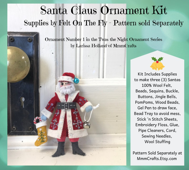 Santa Claus Supplies Kit Pattern Sold Separately Pure Wool image 0