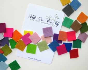 Wool Felt Sampler, Swatches, CHOOSE NINE SWATCHES, Your Choice of Colors, Merino Wool Felt