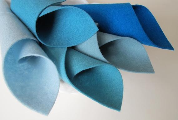 Pure laine mérinos, laine violet en feutre, feutre de bleu, laine bleu, de Yardage, une cour carrée, Turquoise, turquoise, Aqua tissu feutre, certifiés sans danger 62092f